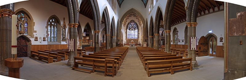 Interior view of St Marie's Cathedral