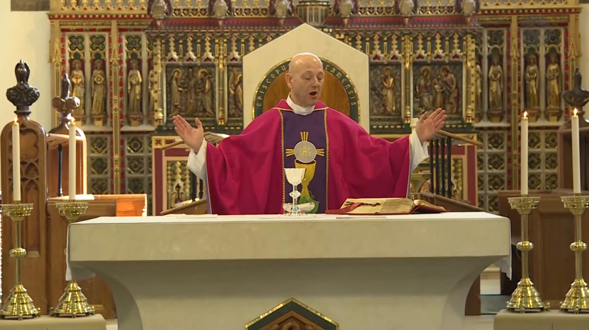 Fr Chris says Mass