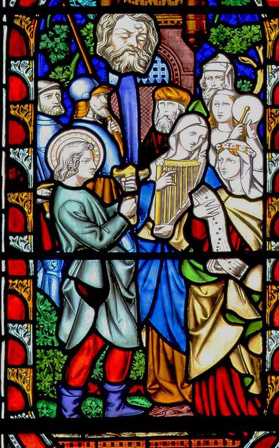 Triumphal entries into Jerusalem in St Marie's West Window