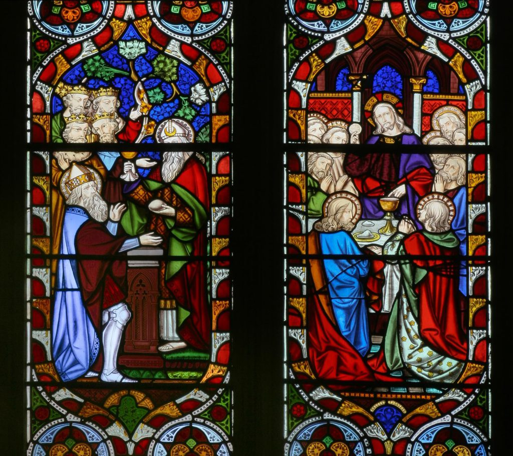 Melchisidech and Abram and Christ and the first Eucharist