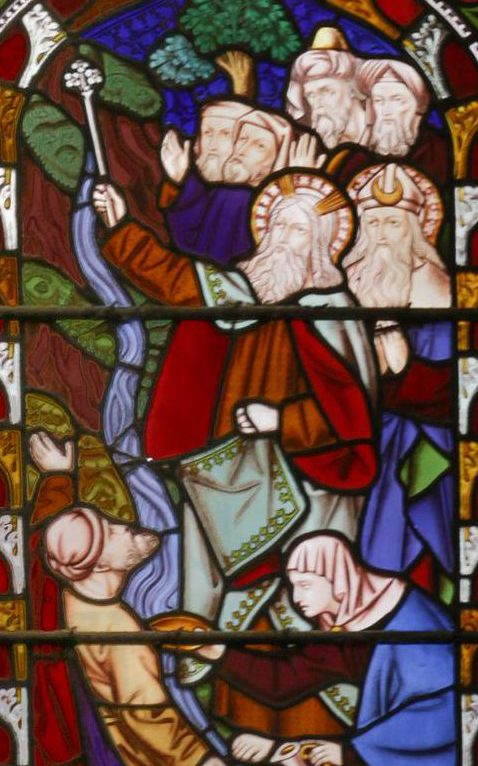 Moses and the rock and Christ is pierced