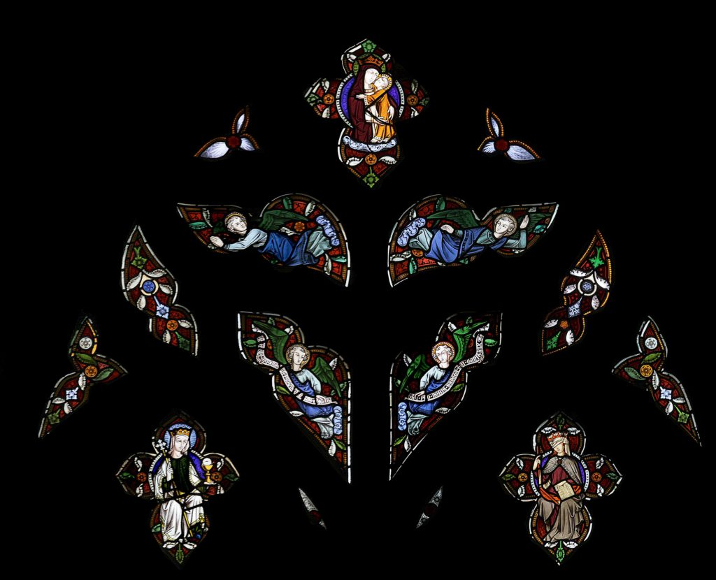 St Marie West Window tracery