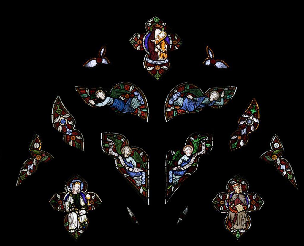St Marie West Window tracery