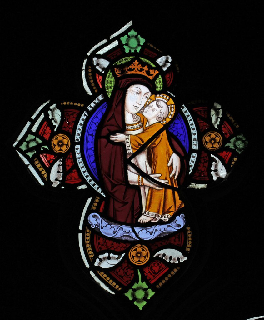 Virgin and Child in the West Window Tracery
