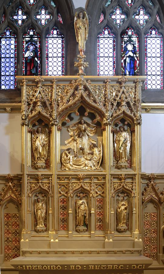 St Joseph Chapel reredos in St Marie's Cathedral.