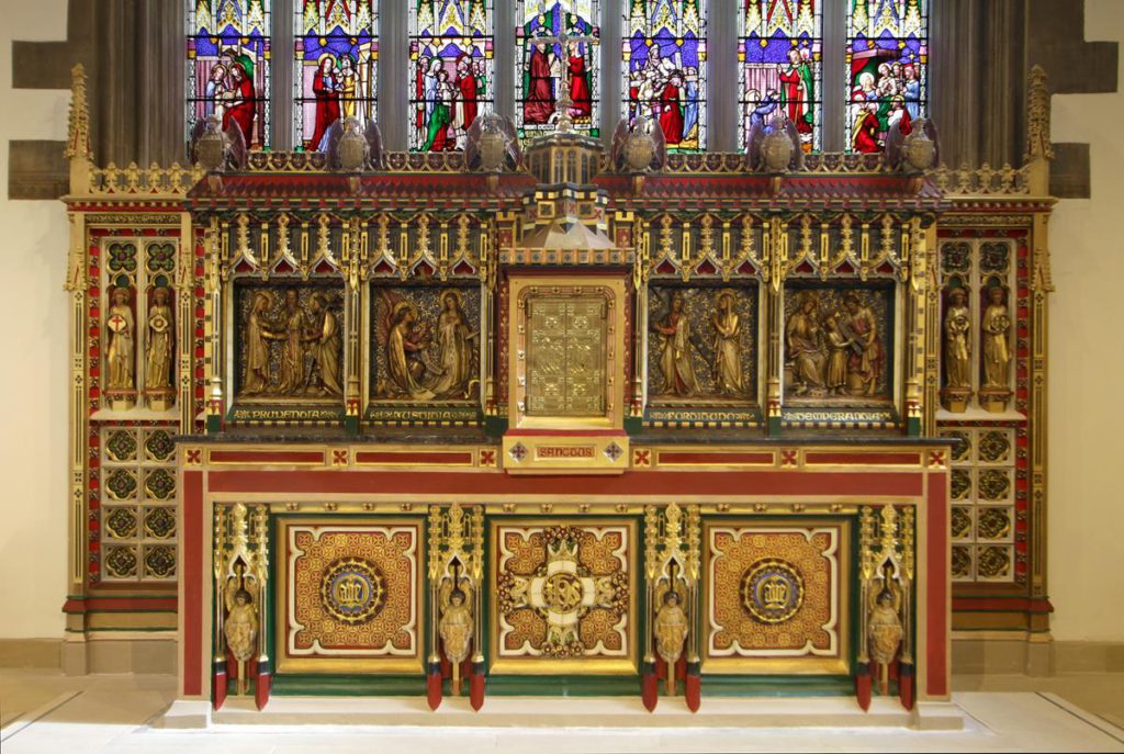 High Altar retable and reredos at St Marie's Cathedral