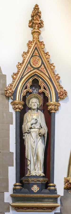 St Joseph Statue in the North Aisle of the Cathedral Church of St Marie.