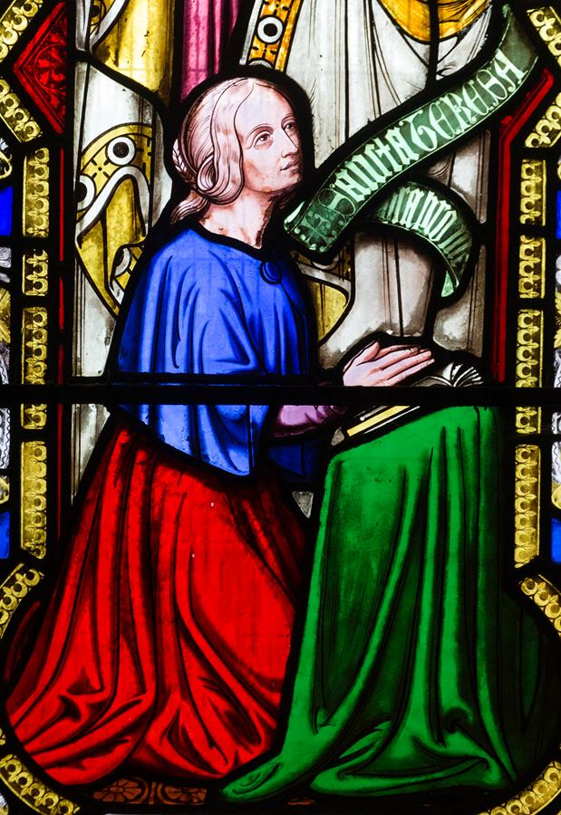 Teresa Wright of Revell Grange, donor of the main window of the South Transept of St Marie's Cathedral.