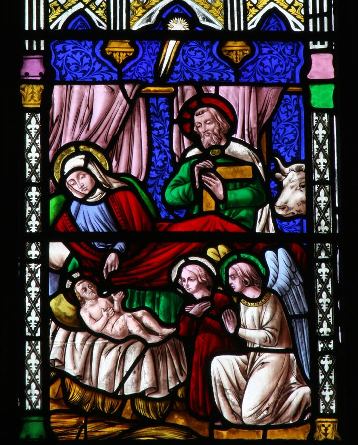 The Nativity shown in St Marie's East Window
