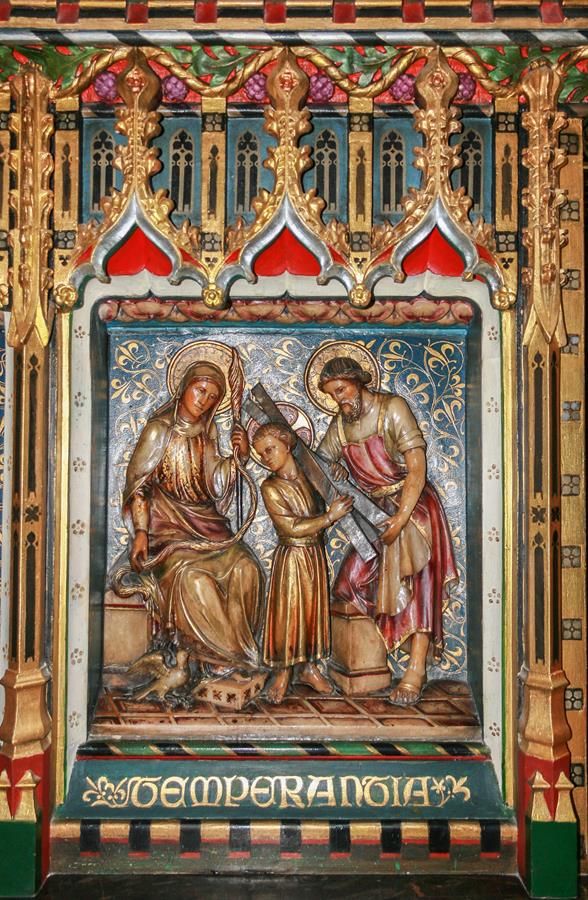 The Holy Family in the retable of the former High Altar at St Marie's