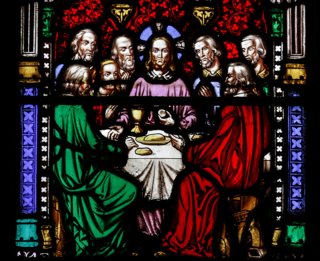 The Last Supper, depicted in the Blessed Sacrament Chapel